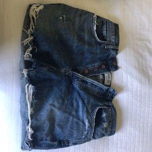 jean skirt. lightly used